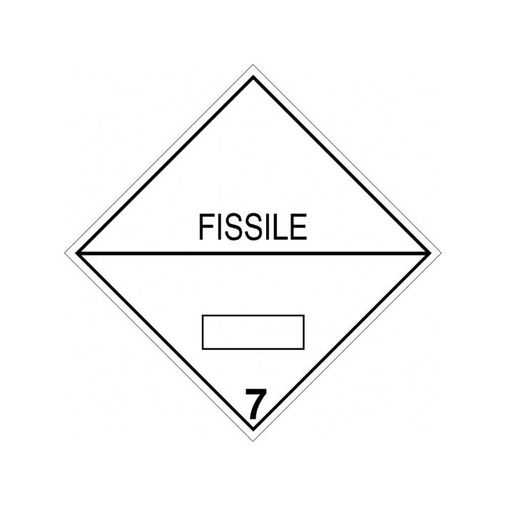 "Etiqueta ""Clase 7 (Fisionable)"""