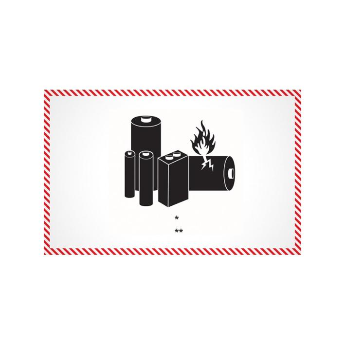 Marca Etiqueta de Batería de Litio - Imprimir
