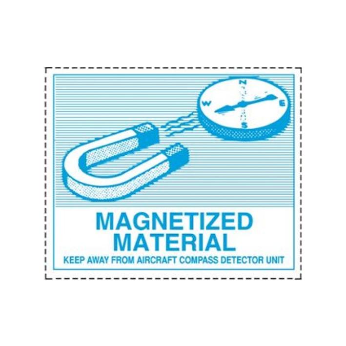 """Etiqueta """"Material Magnetizado"""""""