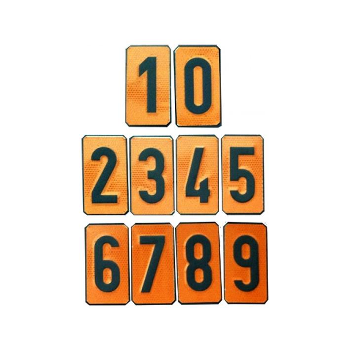 Números Panel Naranja