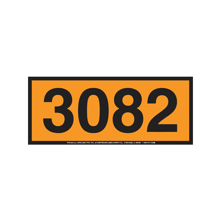 Panel Naranja contenedores ADR / IMDG con números