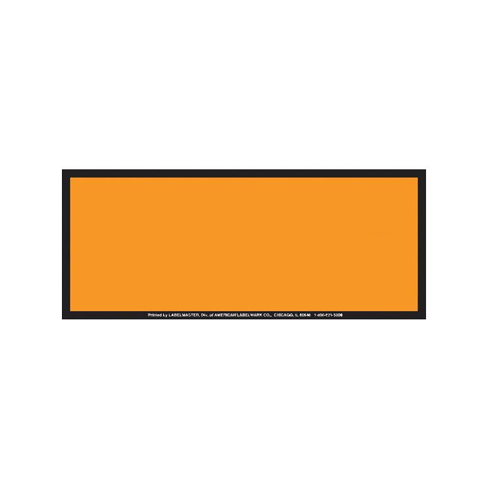 Panel Naranja contenedores ADR / IMDG sin números