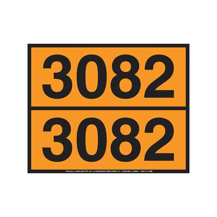 Panel Naranja para números