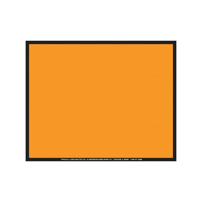 Panel naranja sin números